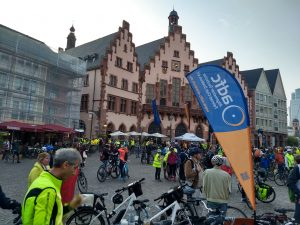 adfc-Bikenight 2017: Start am Frankfurter Römer